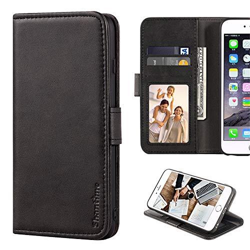 Capa para Lenovo Z5 Pro, capa carteira de couro com compartimentos para dinheiro e cartões, capa traseira magnética de TPU macio para Lenovo Z5 Pro GT (preto)