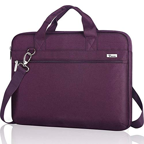 Voova Laptop Bag 17 17.3 Inch,Waterproof Laptop Case Sleeve with Shoulder Starp Messenger bag Compatible with Lenovo Asus Acer Dell Hp Notebook Briefcase with Organizers Pocket,Purple