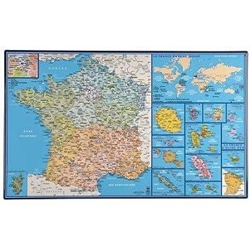 Carte De La France - Sous Main Rigide/Avec Régions ...