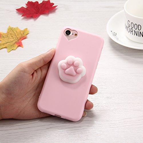 FATEGGS Accesorios para teléfonos móviles para iPhone 6 Plus y 6S Plus 3D Paw PLUMPT PATTEL PATTEL SQUISE Squish Squishy Cubierta DE Cubierta APROXIMA Casos Cubre