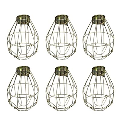 6pcs Metal Lamp Bulb Guard Clamp Vintage Lights Cage Hanging Industrial Lamp Covers Pendant Decor for Home Bar