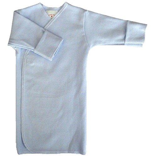 【未熟児】【低出生体重児】【早産児】【NICU】用 ベビー服:長袖長肌着 ブルー (1400-2500g)