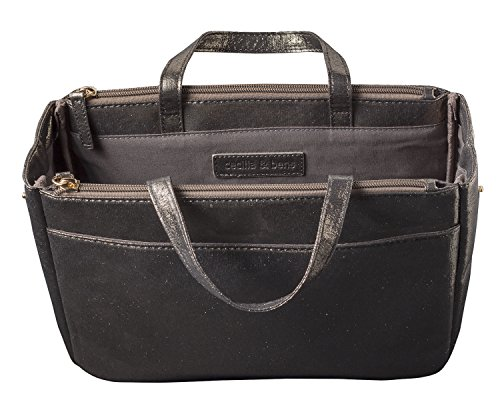 cecilia&bens Handtaschen-Organizer | Bag in Bag | Taschen-Einsatz, Dunkel, 27 x 20 x 10