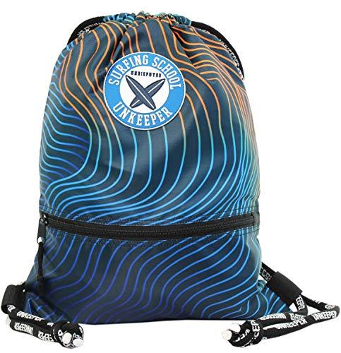 Unkeeper Surf 5 - Bolsa de Cuerdas para Piscina o Deporte, Resistente al Agua, Bolsillo Frontal con Cremallera, Dim. 43 x 35 x 1 cm (Opi Brands 63060)