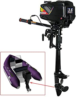 BoTaiDaHong Outboard Motor 3.6HP 2-Stroke Outboard Motor Inflatable Boat Engine with Water Cooling CDI System Outboard Engine Motor Engine Small Fishing Boat Dinghy Water-Cool