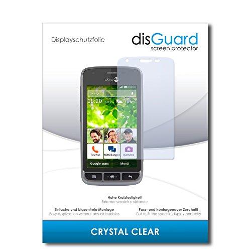 disGuard® Bildschirmschutzfolie [Crystal Clear] kompatibel mit Doro Liberto 820 Mini [4 Stück] Kristallklar, Transparent, Unsichtbar, Extrem Kratzfest, Anti-Fingerabdruck - Panzerglas Folie, Schutzfolie