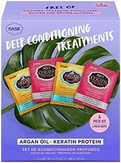 Hask Deep Conditioning Treatments Argan & Keratin Protein 4 Pack Set