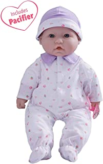 JC Toys, La Baby 16-inch Purple Washable Soft Baby Doll with Baby Doll Accessories..