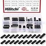 Hilitchi 40Pcs 20Values 74HCxx and 74LSxx Series Logic IC Assortment Kit, 20Pcs 74HCxx and 20Pcs 74LSxx(40)
