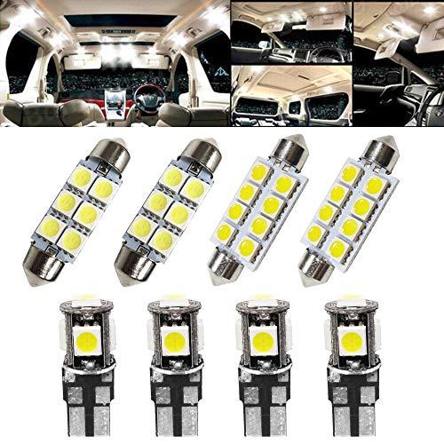 8PCS/Set T10 41MM 39MM LED Ampoules de Voiture Lampe 5050 SMD Intérieur De Voiture Lumière Dôme Carte Côté Feux De Plaque Feu De Stationnement Sans Erreur pour A3