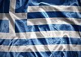 wandmotiv24 Fototapete Wehende Griechische Flagge XS 150 x 105cm - 3 Teile Fototapeten, Wandbild, Motivtapeten, Vlies-Tapeten M4917