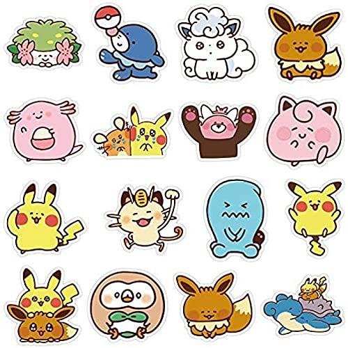 JZLMF 35 adesivi per valigia Pokémon impermeabili