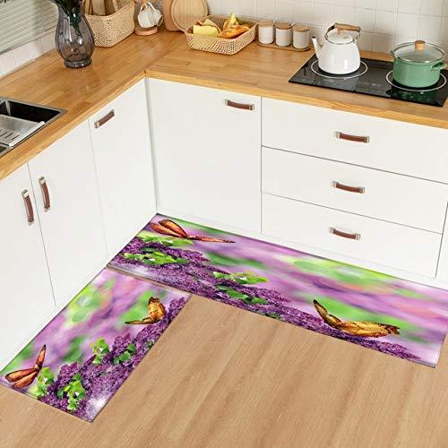 Alfombrilla de cocina impresa moderna 3d, alfombrilla para puerta de entrada, alfombrilla para cama