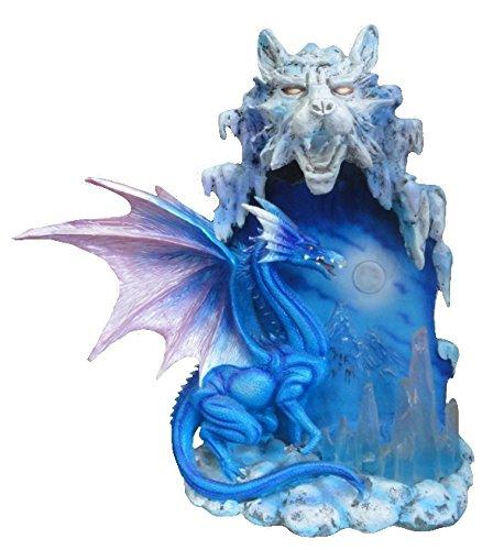 Statuette Dragon, Lampe LUMINAIRE D'AMBIANCE Dragon ET Tigre, Statuette Tigre (HT 26 CM)