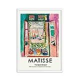 Vintage Henri Matisse carteles e impresiones retro paisaje abstracto muebles para el hogar sin marco pintura decorativa en lienzo A 40x60cm