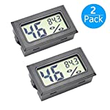 JEDEW 2-Pack Hygrometer Gauge Indoor Thermometer,Mini Digital LCD Monitor Temperature Outdoor Humidity Meter...