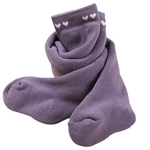 Tauzveok Medias de fondo de bebé para mantener el calor en otoño e invierno, niñas pequeñas, bucles gruesos, niñas de 0 a 1 a 3 años, grandes PP de cintura alta, morado, XL