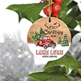 Merry Christmas Tree Decorations Ornaments 2020 - Ornament Hometown Lake Lure North Carolina NC State - Keepsake Gift Ideas Ornament 3' for Family, Friend and Housewarming
