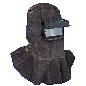 TOOLTOO Leather Welding Hood - 3 in 1 Welding Helmet Face Mask by HomexGarden