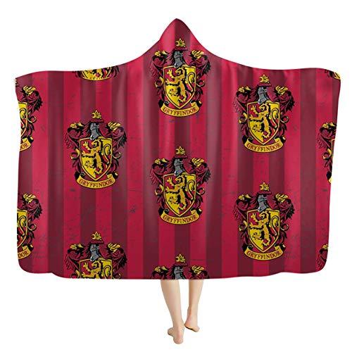 3D Cartoon Harry Potter Microfiber Hooded Blanket Cloak Sherpa Fleece Wearable Hood Throw Blankets Wrap Bathrobe Fit All Season,btt8,110 * 150cm