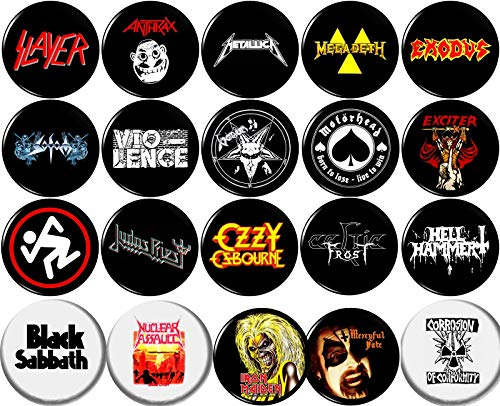 Heavy Metal 20 New 1' inch (25mm) Button pin Badge