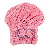 Heliansheng Gorro de algodón para Cabello seco Gorro de Ducha de Secado rápido Toalla de baño Absorbente de Microfibra -B Pink-D53