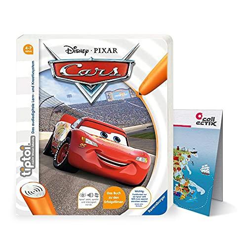 Collectix Ravensburger tiptoi ® Buch 4-7 Jahre | Disney Cars + Kinder Wimmel Weltkarte | Autos, Bücher