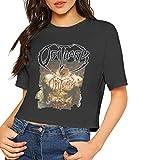 Photo de John J Littlejohn T-shirt court à manches courtes pour femme, imprimé Obituary-Inked In Blood