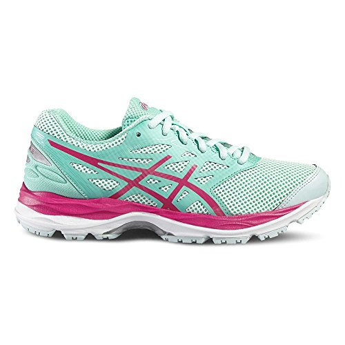 Asics Gel-Cumulus 18 GS, Zapatillas de Running Unisex niños, Azul (Island Blue/Safety Yellow/Black), 33 EU