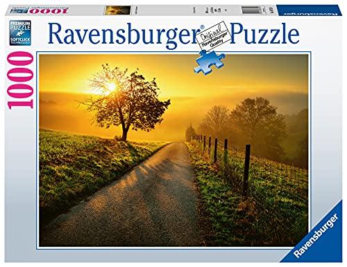 Ravensburger Puzzle 1000 Piezas, Caminando al Amanecer, Colección Fotos y Paisajes, Puzzle para Adultos, Rompecabezas Ravensburger [Exclusivo en Amazon]