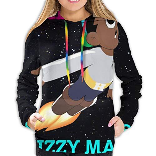 Skizzy Mars Women Sweatshirts Autumn Winter Leisure Pullover Hoodies Black