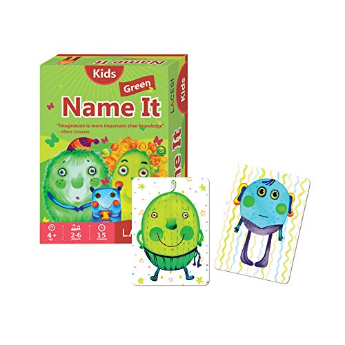 Name It  Fun Card Game For Kids As Voted By Parents Green