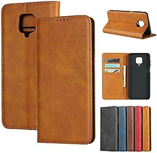 Eastwave Redmi Note 9S 6.67インチ 手帳型 シャオミ xiaomi redmi note9s ケース 携帯カバー Case 内蔵マグネット 高質合成皮革 財布型カバーカード収納 横置きスタンド機能 人気 おしゃれ 二つ折り 5色 カーキ