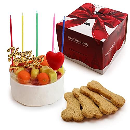 犬用 生デコレーションケーキ 3号サイズ(260g) ボーンクッキー 4枚付 【 中型犬~大型犬 用 】 | ドッグケーキ 魔法洋菓子店ソルシエ