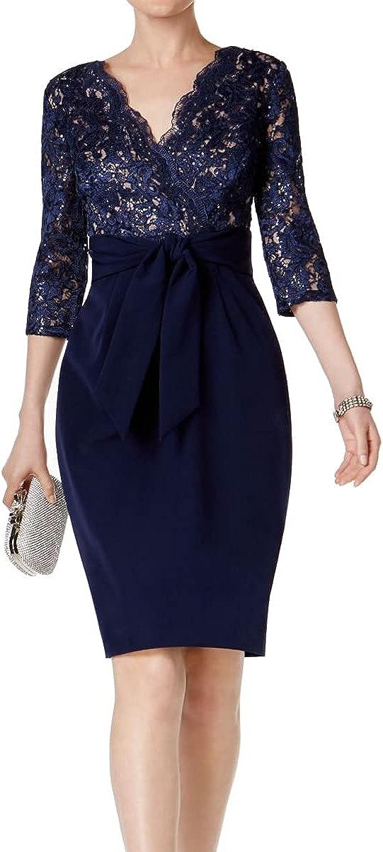 Alex Evenings Women's Cocktail Dress with Tie Waist