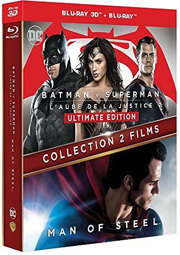 BATMAN VS SUPERMAN / MAN OF STEEL - Coffret 2 Films - Blu-Ray 3D - DC COMICS