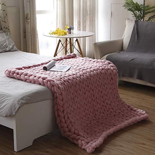ZCXBHD Gebreide deken, grof en reuze-knuffeldeken, wollen deken, sprei, sprei, deken, huis, decoratief geschenk