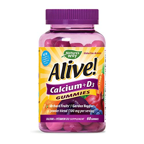 Alive! Calcium Gummies Plus Vitamin D3 60 Gummies