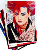 80er Jahre Party Dekorationen - 10 x 80er Jahre Popstars