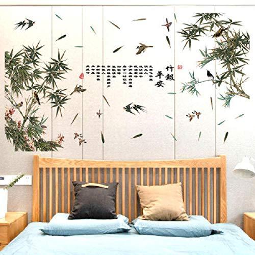 SUNER-EUR Chinese stijl bamboe kalligrafie muurstickers raamdecoratie schilderij diy muurschildering