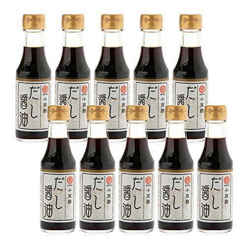 [タケサン] だし醤油 小豆島 150ml×10本 天然醸造丸大豆醤油(生搾醤油) を使用