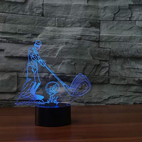 Ledlamp met optische illusie golf spelen 3D van nachtlamp-led, 7 kleuren, de decoratieve lamp van de noten-bureau-lamp-woonkamer-slaapkamer-kinderdagverblijf veranderen.