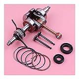 Buena resistencia a la abrasión Juego de anillos de pistón de válvula de sello de aceite de cigüeñal para Honda GX35 35CC GX 35 cortacésped pieza de Motor de motor pequeño Ajuste perfecto