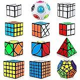 Aiduy Zauberwürfel Set, 12 Stück Speed Cube Set Dreieck Pyraminx Speedcube 2x2 3x3 4x4 5x5...