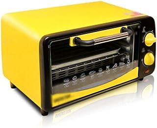 LYQ Hornos de Cocina de Doble Capa Tostadora Horno eléctrico pequeño Pastel para Hornear en casa Barbacoa Pizza de Batata Mini Horno para (Color: Amarillo)