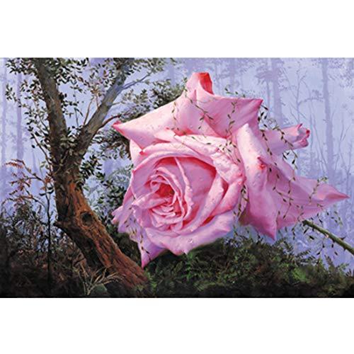 Houten puzzel 3000 stuks Rose Morning Mist Schilderijen puzzel Grote Educational Intellectual Decompressing leuk spel