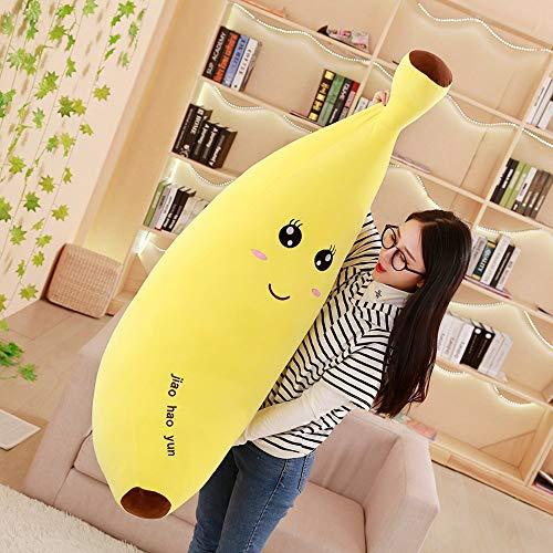 XIMDLS Juguete de Peluche de plátano de Dibujos Animados Suave, plátano de Fruta rellena súper Suave, Almohada cojín Juguetes para niños 80 cm