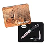 Herbertz 10IT33753146831IT10 Remington Knife Toothpick-Set Limited Rem2Er Messer-Set con Aufbewahrungsbox Verde, Nero