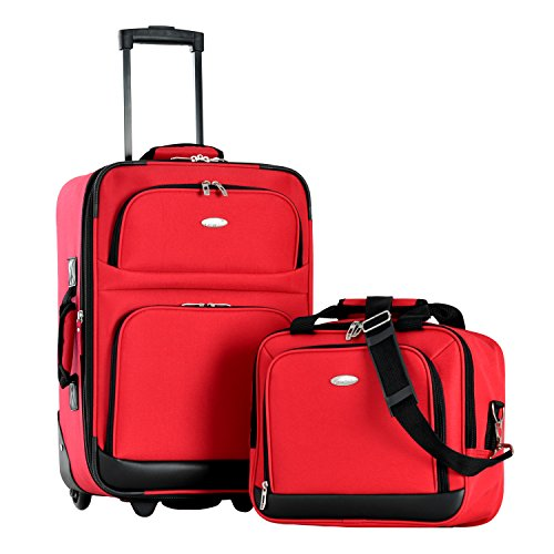 Olympia Let's Travel 2pc Carry-on Luggage Set, Red, One Size