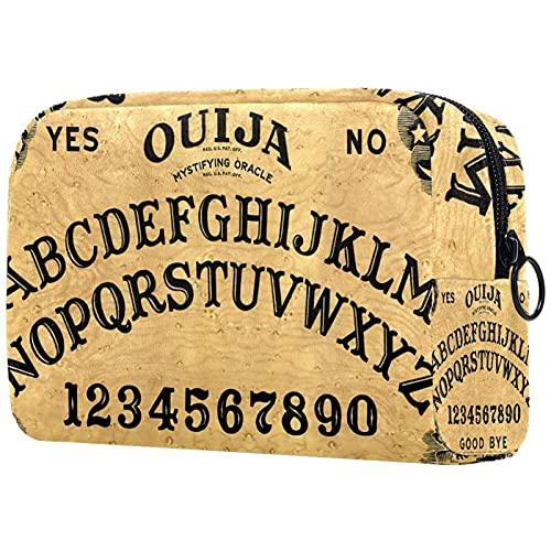 Neceser de Maquillaje Estuche Escolar para Cosméticos Bolsa de Aseo Grande,Tablero de Letra Ouija